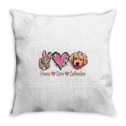 Peace Love Labrador Throw Pillow | Artistshot