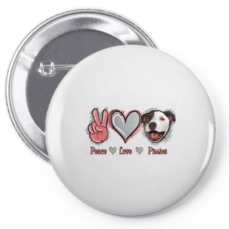Peace Love Pitties Pin-back Button   Artistshot
