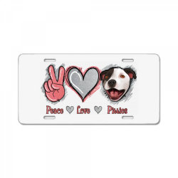 Peace Love Pitties License Plate   Artistshot