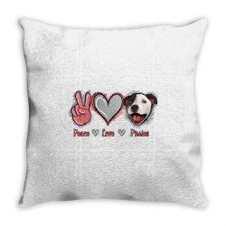 Peace Love Pitties Throw Pillow   Artistshot
