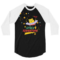 cat astronaut 3/4 Sleeve Shirt   Artistshot