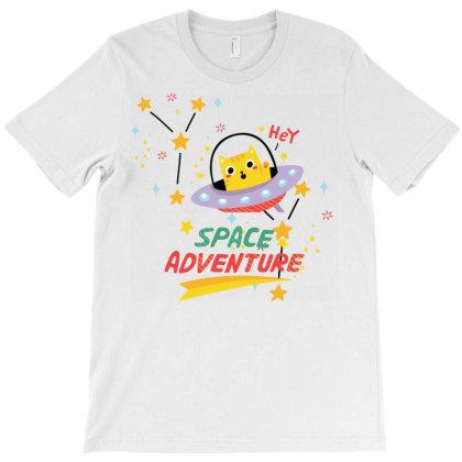 Cat Astronaut T-shirt Designed By Artefact33