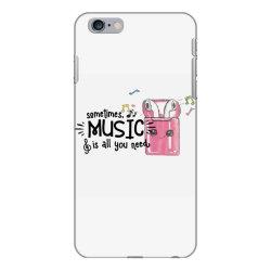 music brings peace of mind iPhone 6 Plus/6s Plus Case | Artistshot