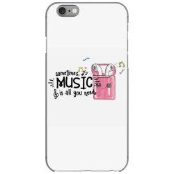 music brings peace of mind iPhone 6/6s Case | Artistshot