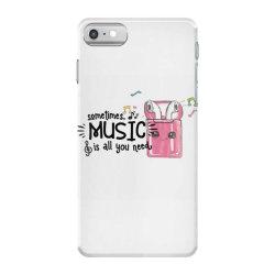 music brings peace of mind iPhone 7 Case | Artistshot