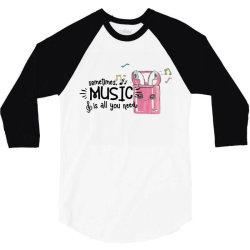 music brings peace of mind 3/4 Sleeve Shirt | Artistshot