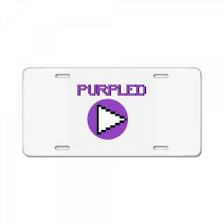 purpled craft yt License Plate | Artistshot