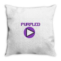 purpled craft yt Throw Pillow | Artistshot