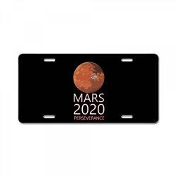 mars 2020 perseverance white 01 License Plate   Artistshot