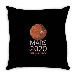 mars 2020 perseverance white 01 Throw Pillow   Artistshot