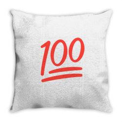 100 number Throw Pillow | Artistshot