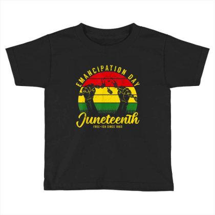 Juneteenth Emancipation Day Vintage Cool Melanin Black Pride Toddler T-shirt Designed By Conco335@gmail.com