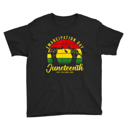 Juneteenth Emancipation Day Vintage Cool Melanin Black Pride Youth Tee Designed By Conco335@gmail.com