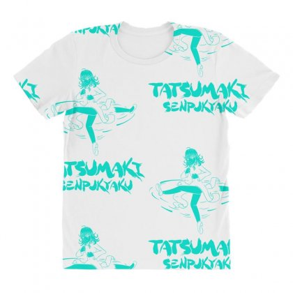 Tatsumaki Senpukyaku All Over Women's T-shirt Designed By Specstore