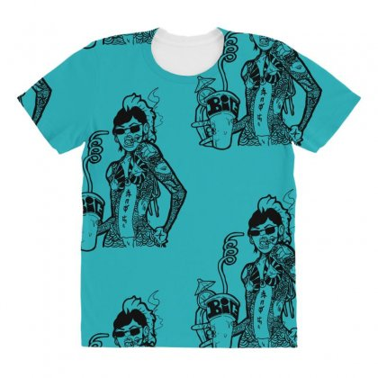 Yakuza Punch All Over Women's T-shirt Designed By Specstore