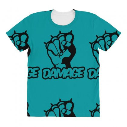 Damage Punch All Over Women's T-shirt Designed By Specstore
