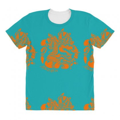 Ganesh All Over Women's T-shirt Designed By Specstore