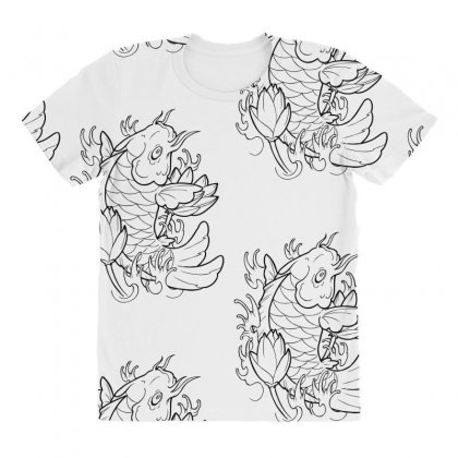 Goldfish Of Heaven All Over Women's T-shirt Designed By Specstore