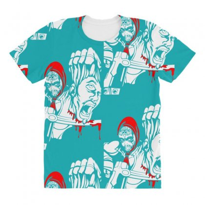 Red Murder All Over Women's T-shirt Designed By Specstore