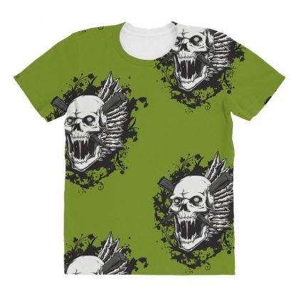 Sealed Vampire Skull All Over Women's T-shirt Designed By Specstore