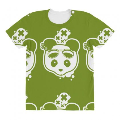 Super Hippies Panda All Over Women's T-shirt Designed By Specstore