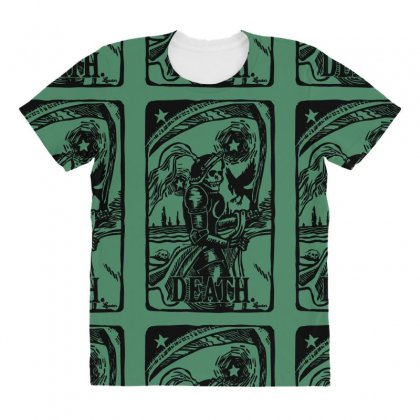 Tarot Death Card All Over Women's T-shirt Designed By Specstore