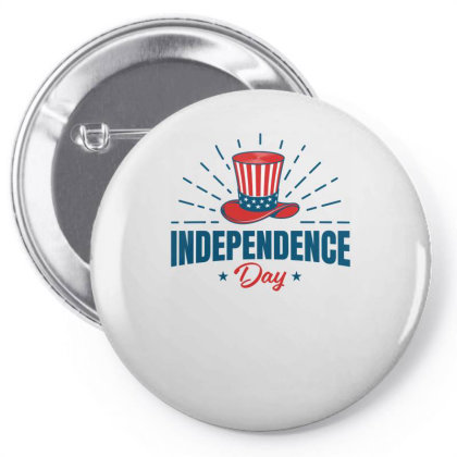 Independence Day Pin-back Button Designed By Turquoise