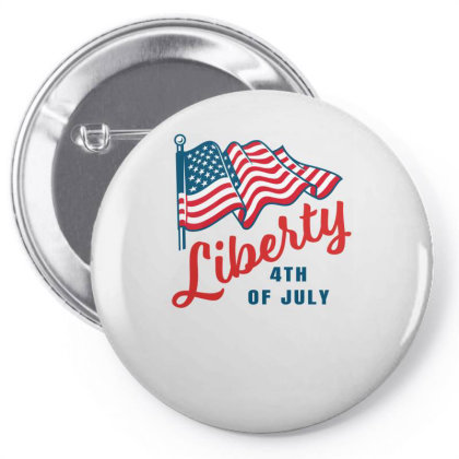 Liberty 4 July Pin-back Button Designed By Turquoise
