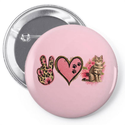 Peace Love Cats Pin-back Button Designed By Jasminsmagicworld