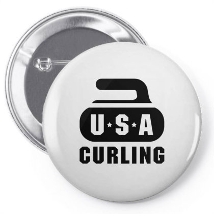 Usa Curling Team Pin-back Button Designed By Cosby