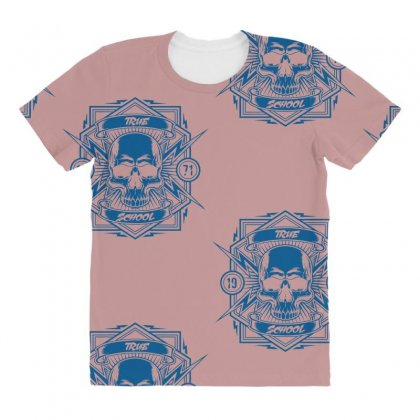 True School All Over Women's T-shirt Designed By Specstore