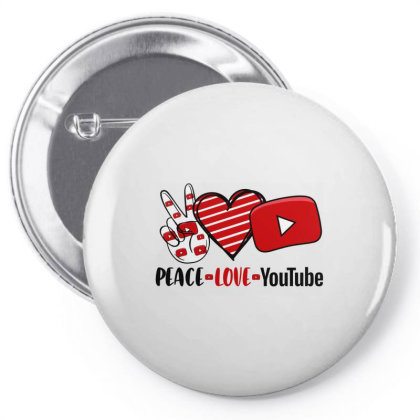 Peace Love Youtube Pin-back Button Designed By Cosby