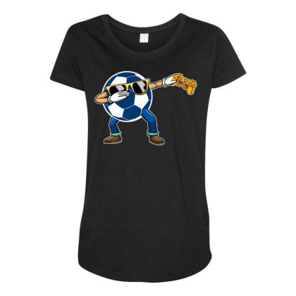 Soccer Player Dabbing Ball Gift For Soccer Player & Gamers Maternity Scoop Neck T-shirt Designed By Rishart