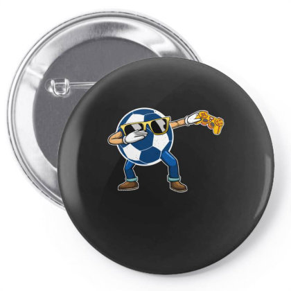 Soccer Player Dabbing Ball Gift For Soccer Player & Gamers Pin-back Button Designed By Rishart