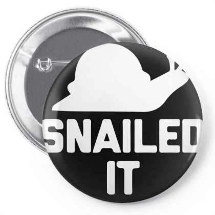 Snailed It Pin-back Button Designed By Sakatiar
