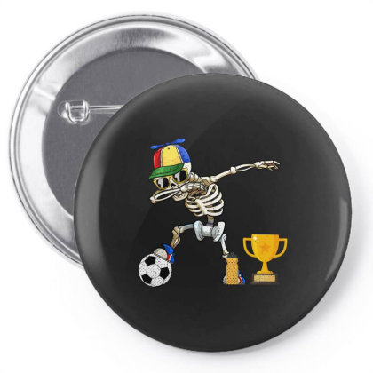 Soccer Player Kids Halloween Gifts Funny Dabbing Skeleton Pin-back Button Designed By Rishart