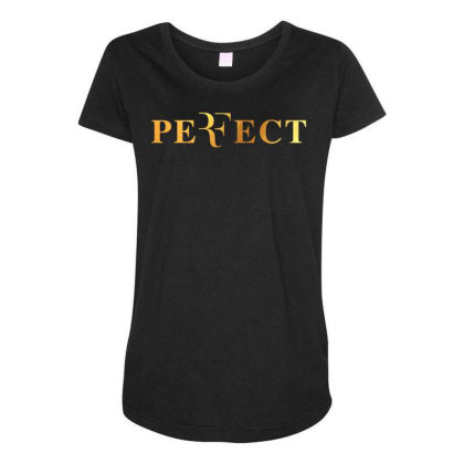 Federer Perfect Gold Maternity Scoop Neck T-shirt Designed By Cosby