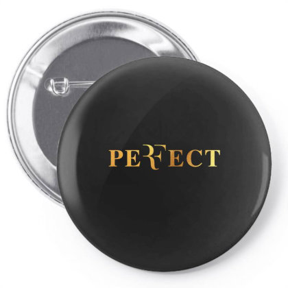 Federer Perfect Gold Pin-back Button Designed By Cosby