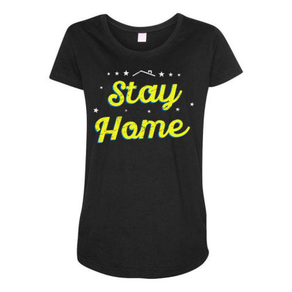 Stay Home Quarantine Sayings Lock Down Awareness Design From Home Maternity Scoop Neck T-shirt Designed By Rishart