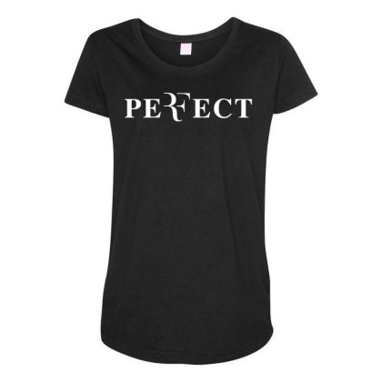 Federer Perfect Maternity Scoop Neck T-shirt Designed By Cosby