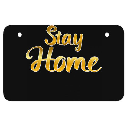 Stay Home Golden Style Mom Face Mask Quarantine Sayings Lock Down Awar Atv License Plate Designed By Rishart