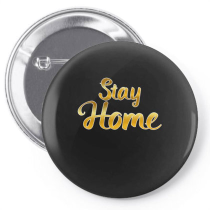 Stay Home Golden Style Mom Face Mask Quarantine Sayings Lock Down Awar Pin-back Button Designed By Rishart
