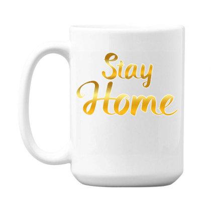 Stay Home Golden Style Mom Face Mask Quarantine Sayings Lock Down Awar 15 Oz Coffee Mug Designed By Rishart