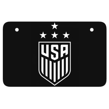 Uswnt 4 Stars Crest Atv License Plate Designed By Cosby