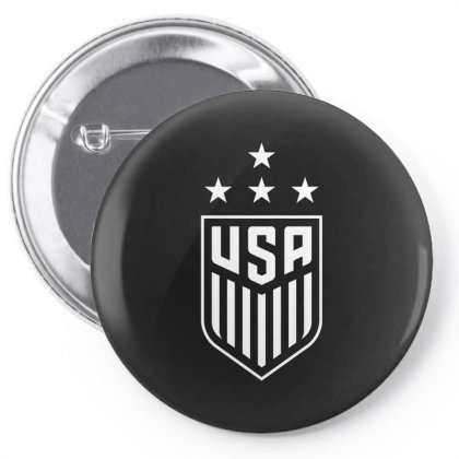 Uswnt 4 Stars Crest Pin-back Button Designed By Cosby