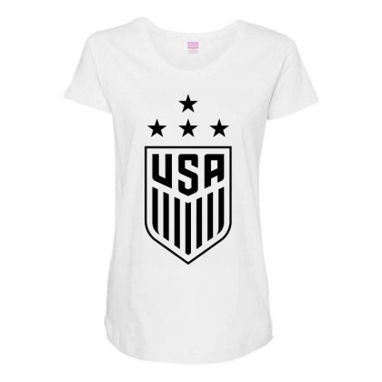 Uswnt 4 Stars Crest Maternity Scoop Neck T-shirt Designed By Cosby