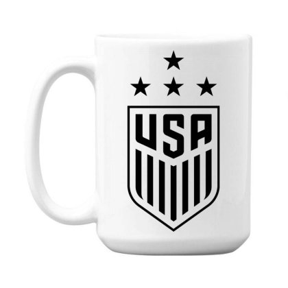 Uswnt 4 Stars Crest 15 Oz Coffee Mug Designed By Cosby