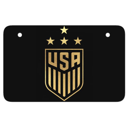 Uswnt 4 Star Crest Gold Atv License Plate Designed By Cosby