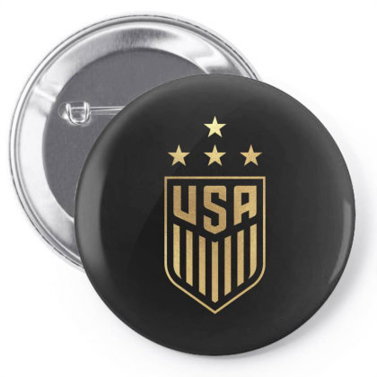 Uswnt 4 Star Crest Gold Pin-back Button Designed By Cosby