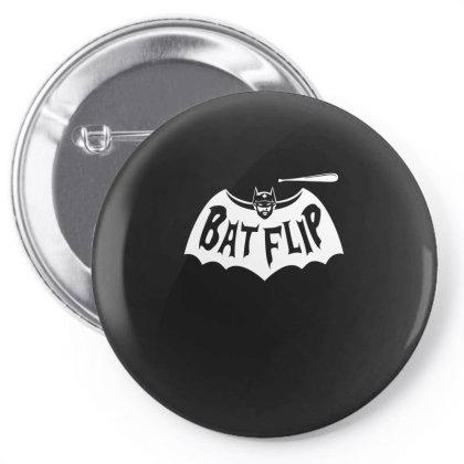 Bat Flip Pin-back Button Designed By Alpharose